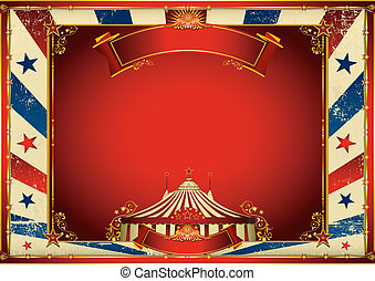 A horizontal circus poster for your screen or your pad