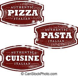 Vintage Italian Food Stamps