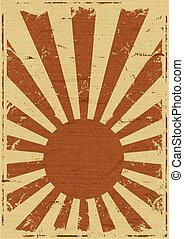 Vintage Japan Flag Background