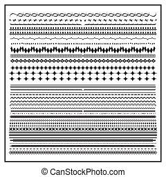 Vintage line border set and design element