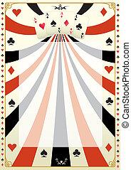 Vintage poker background