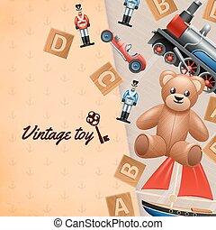 Vintage Toys Background