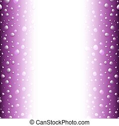 violet saturated border with water drops and copyspace for your text