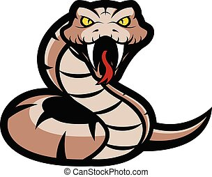 Clipart picture of a viper snake cartoon mascot logo character