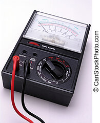 Volt meter with red and black cables