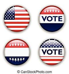 vote badge for united states