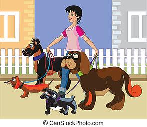 Walking of dogs