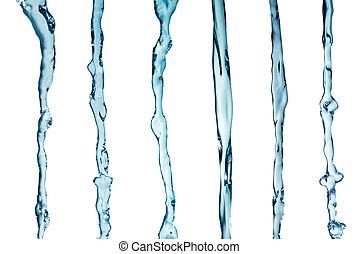 water splash collage in white background