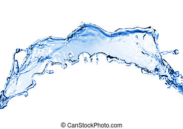 water splash isolated on white