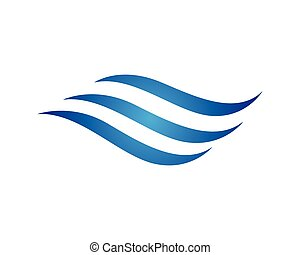water wave symbol, isolated vector icon