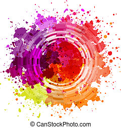 Watercolor Blot Abstract Background, Vector Illustration