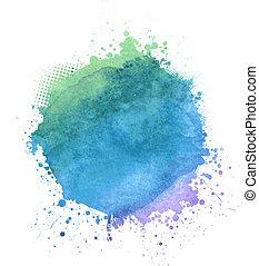 Multicolored watercolor splash blot