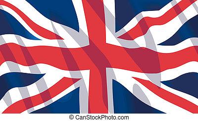 Vector waving British National flag
