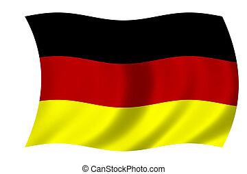 waving flag of Germany