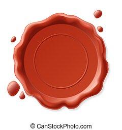 Vector illustration of wax seal