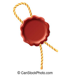 Vector illustration of a wax seal with rope