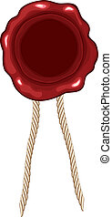 Wax seal with string