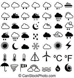 easy to edit vector illustration of weather icon