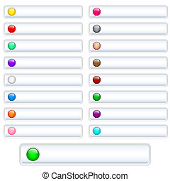 Web buttons white