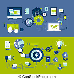 Web design and advertising process