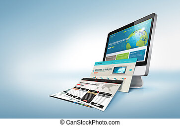 Webpages come out from the monitor