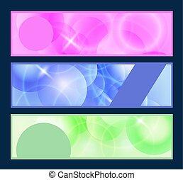 web header vector set