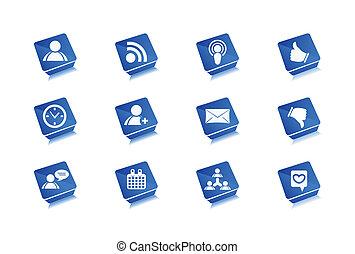 Vector web icons set design.