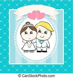 wedding cartoon invitation