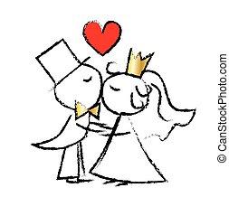 wedding couple love