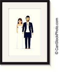wedding couple photo frame