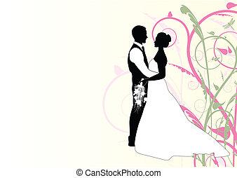 WEDDING COUPLE WITH SWIRL