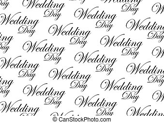 Wedding Day script step and repeat