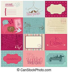 Wedding Design Elements -for invitation, scrapbook in vector