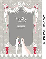 Wedding invitation with space for text