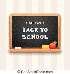 Welcome Back to School Written on Blackboard