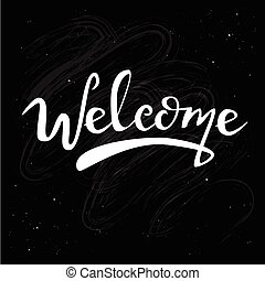 Welcome on chalk board