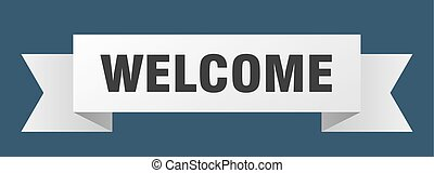 welcome ribbon. welcome isolated sign. welcome banner