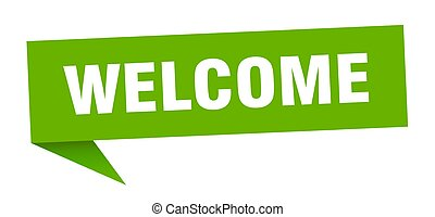 welcome speech bubble. welcome sign. welcome banner