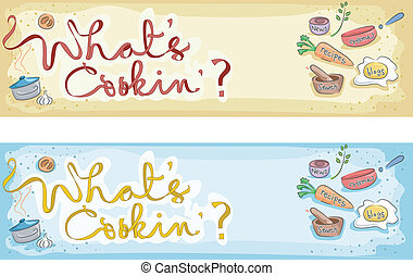 Illustration of a Cooking Banner