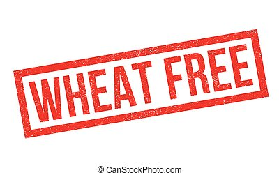 Wheat Free rubber stamp