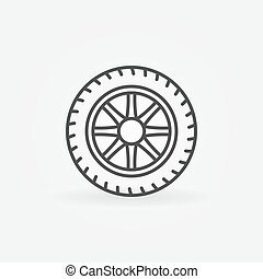 Wheel linear icon