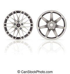 Wheel rim set on a white background.