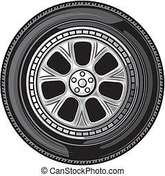 wheel (vector tyre)