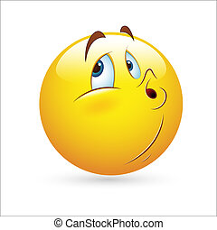 Creative Abstract Conceptual Design Art of Smiley Emoticons Face Vector - Whistling