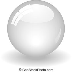 Illustration of a white ball. Available in jpeg and eps8 formats.