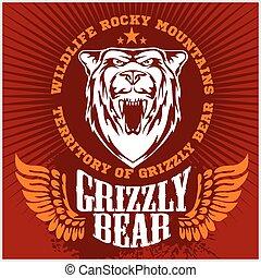 White bear head - emblem.