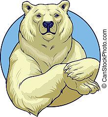 Vector illustration of a polar White bear