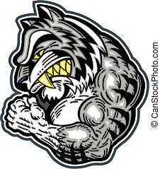 WHITE BENGAL tiger mascot