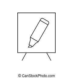 White board and marker illustration