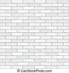White brick wall vector illustration.